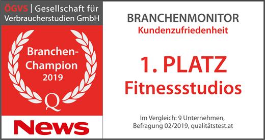 Fitinn Branchen Champion 1. Platz